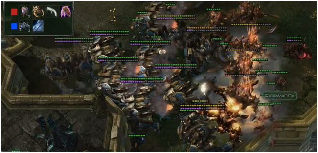 Starcraft 2 Epic battle between thors and ultralisks